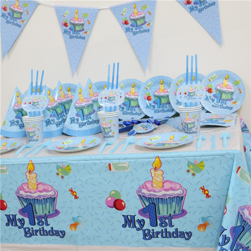 Baby First Party Ideas  102pcs Kids First Birthday Party Set 10 people Girl Boy