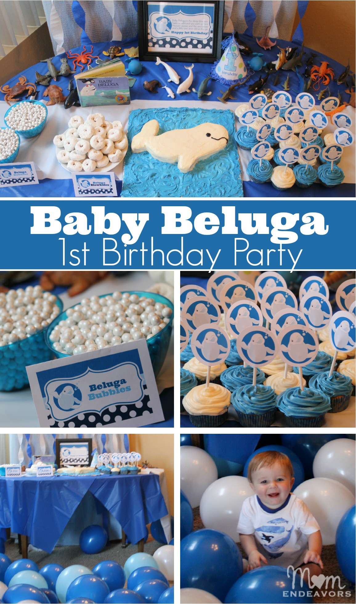 Baby First Party Ideas  Baby Beluga 1st Birthday Party