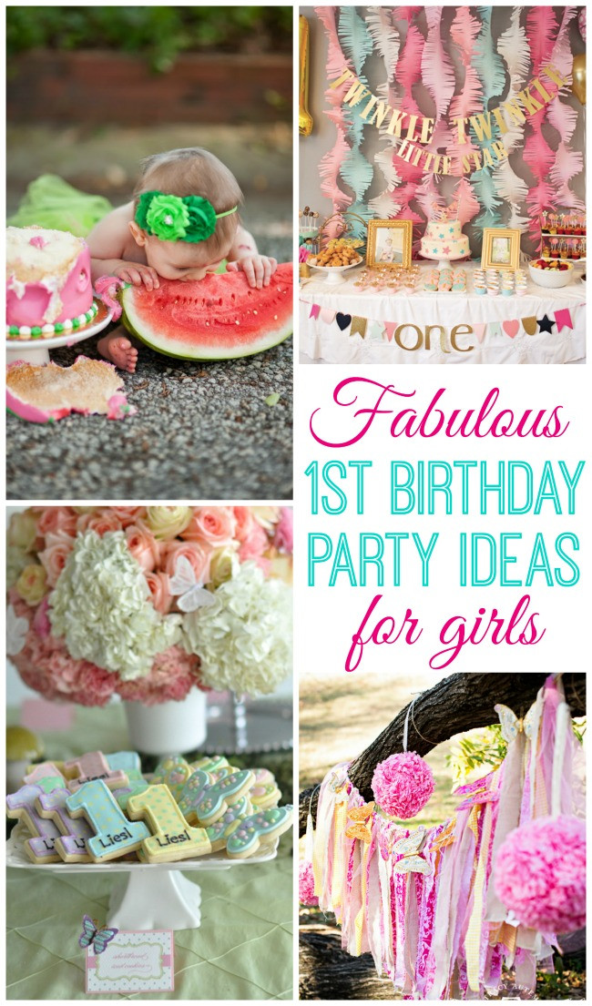 Baby First Party Ideas  Baby Girl Turns e Design Dazzle