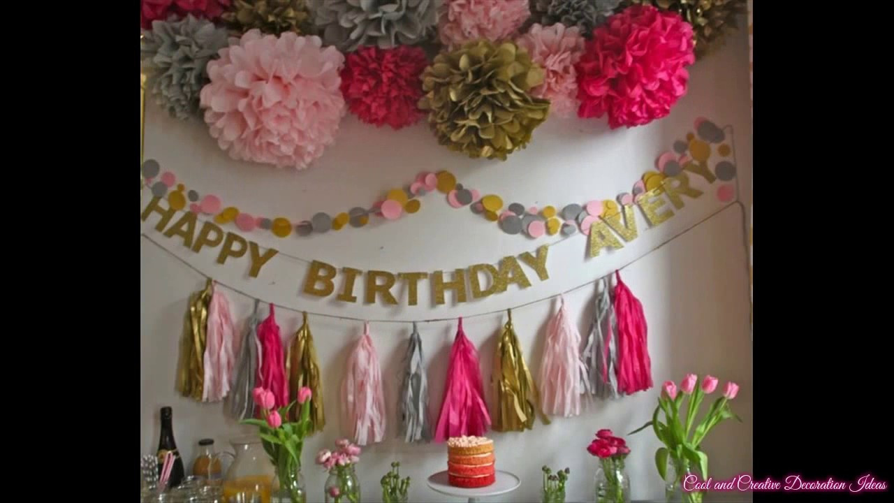 Baby Girl 1St Birthday Party Decorations  Baby Girl First Birthday Party Decorating Ideas