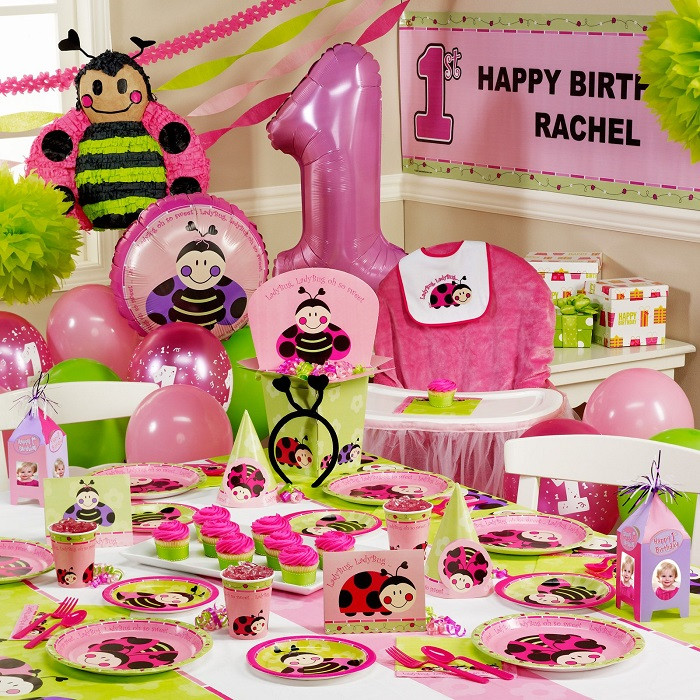 Baby Girl 1St Birthday Party Decorations  Birthday