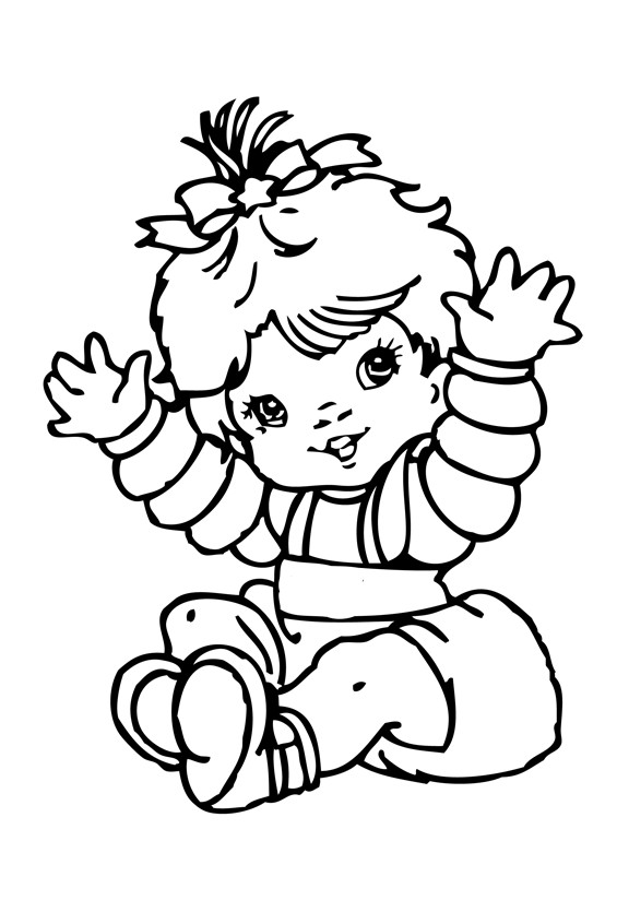 Baby Girl Coloring Pages  Cute Baby Girl Coloring Pages Baby Coloring Pages Free
