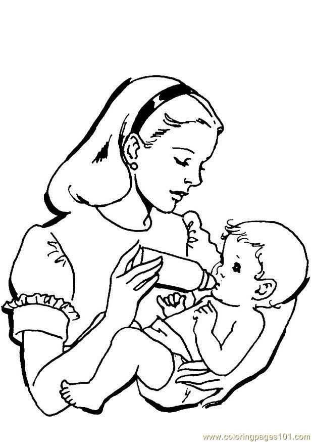 Baby Girl Coloring Pages  Baby Girl Coloring Pages To Print Coloring Home