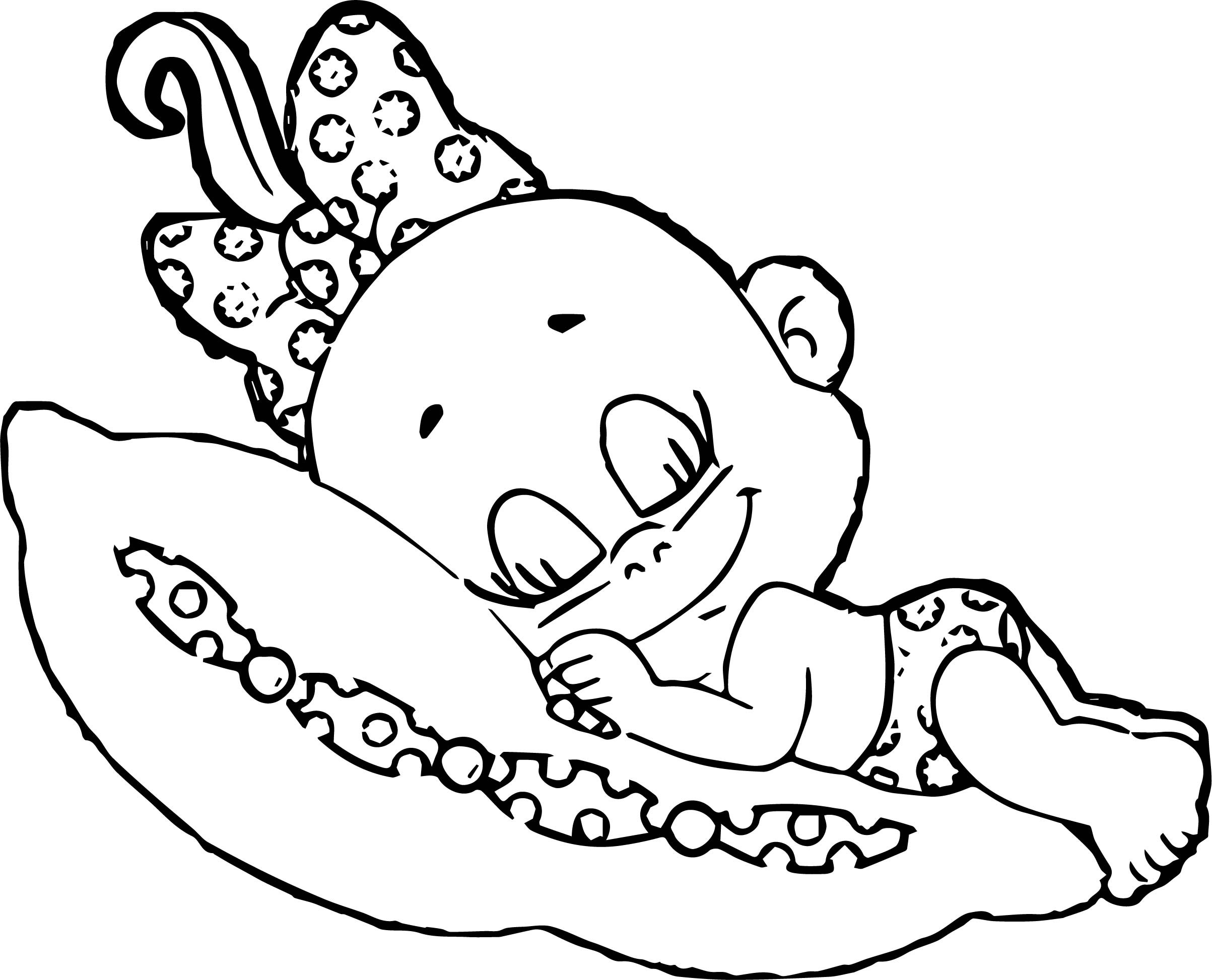 Baby Girl Coloring Pages  Baby Cartoon Girl Coloring Page