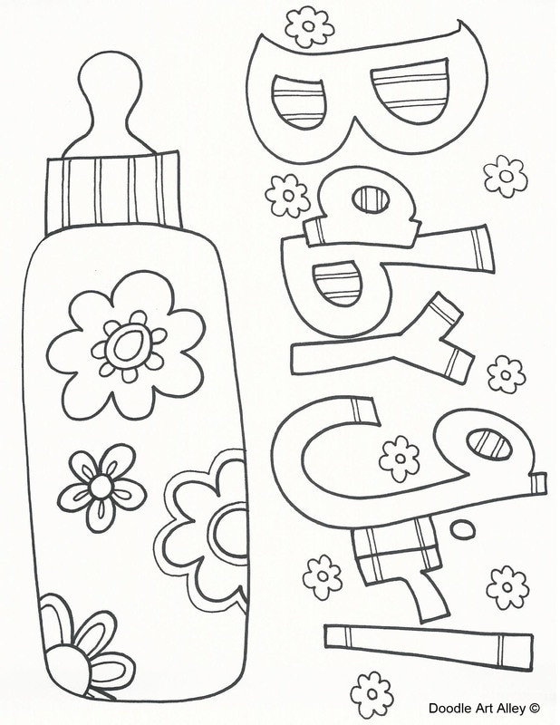 Baby Girl Coloring Pages  Baby Coloring Pages Doodle Art Alley