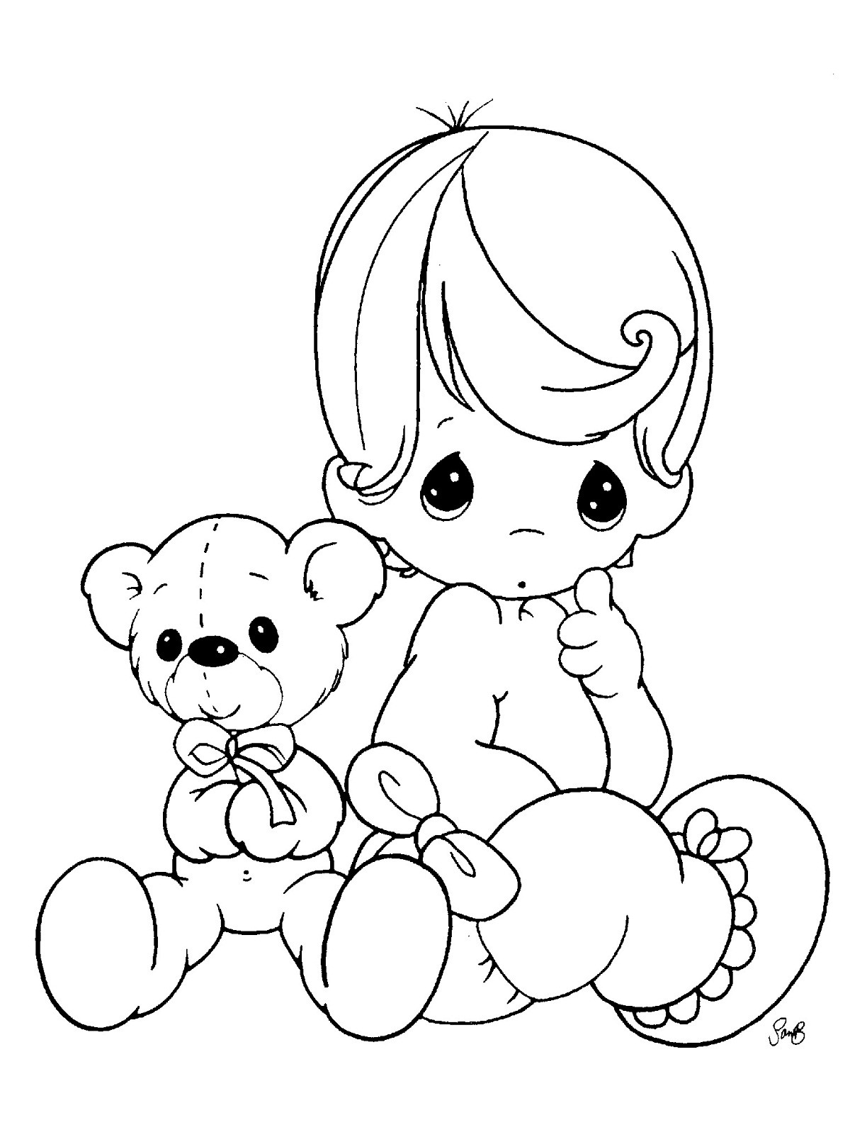 Baby Girl Coloring Pages  Free Printable Baby Coloring Pages For Kids