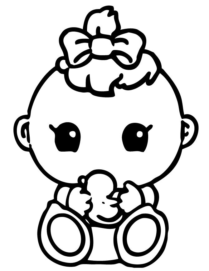 Baby Girl Coloring Pages  Squinkies Baby Coloring Page