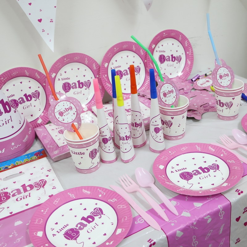 Baby Girls 1St Birthday Party Supplies  1pack 78pcs Wholesale Baby Girl Baby 1st Birthday Theme