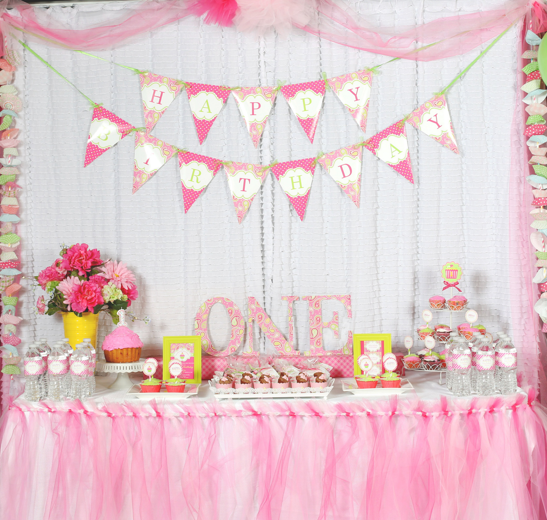 Baby Girls 1St Birthday Party Supplies  A Cupcake Themed 1st Birthday party with Paisley and Polka