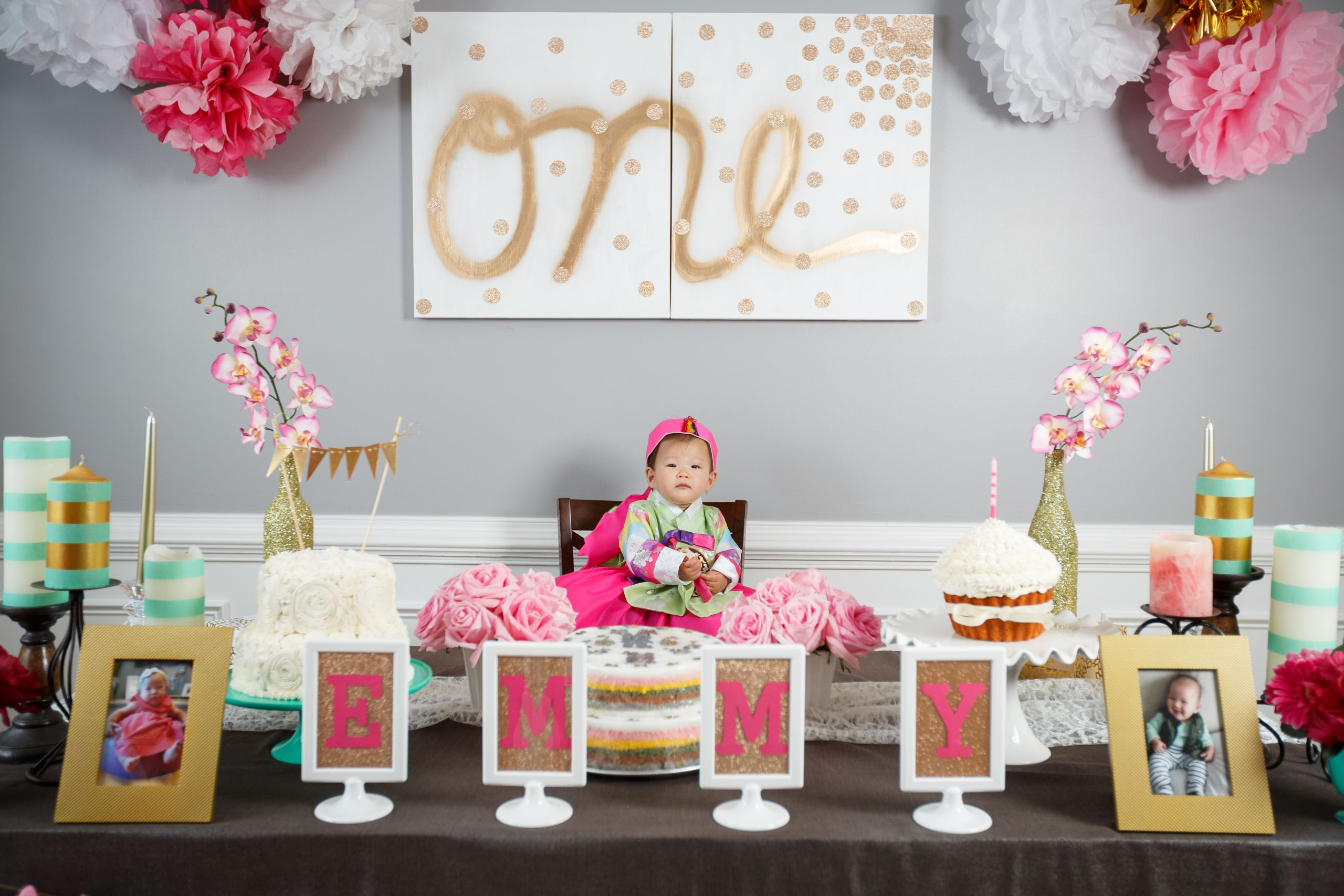 Baby Girls 1St Birthday Party Supplies  Emmy s Dohl Korean 1st Birthday Party Love Your Abode