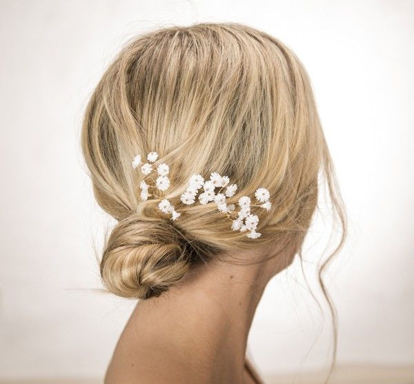 Baby Hair Pieces  Baby s Breath Hair Pins Bridal Hair Piece