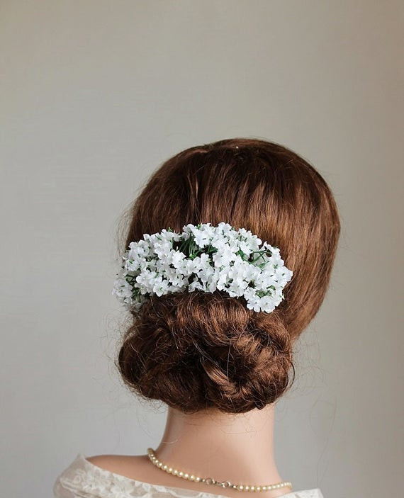 Baby Hair Pieces  Items similar to Baby s Breath Hair Vine Rustic Head