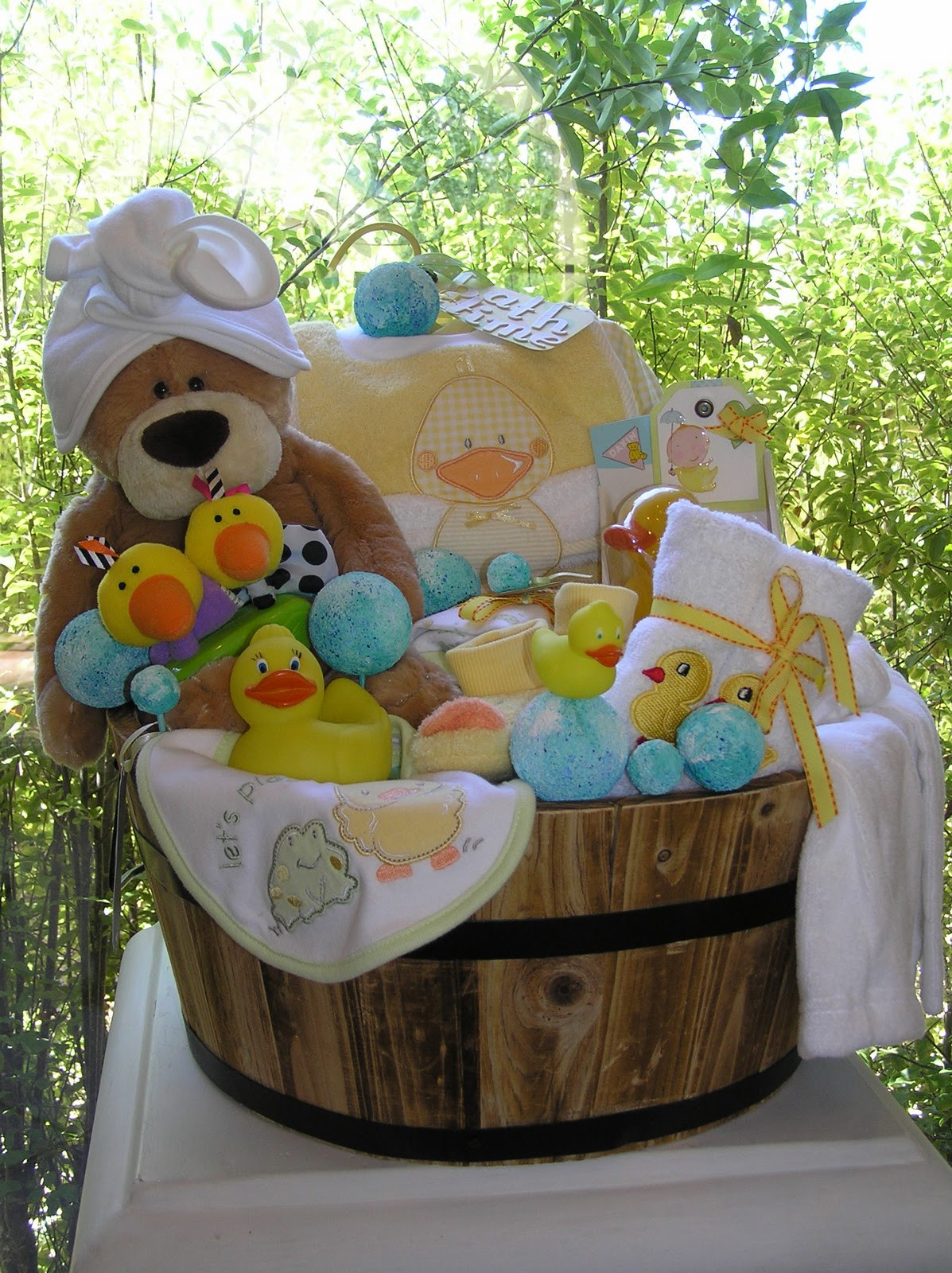 Baby Photo Gift Ideas  White Horse Relics Unique Themed Baby Gift Baskets