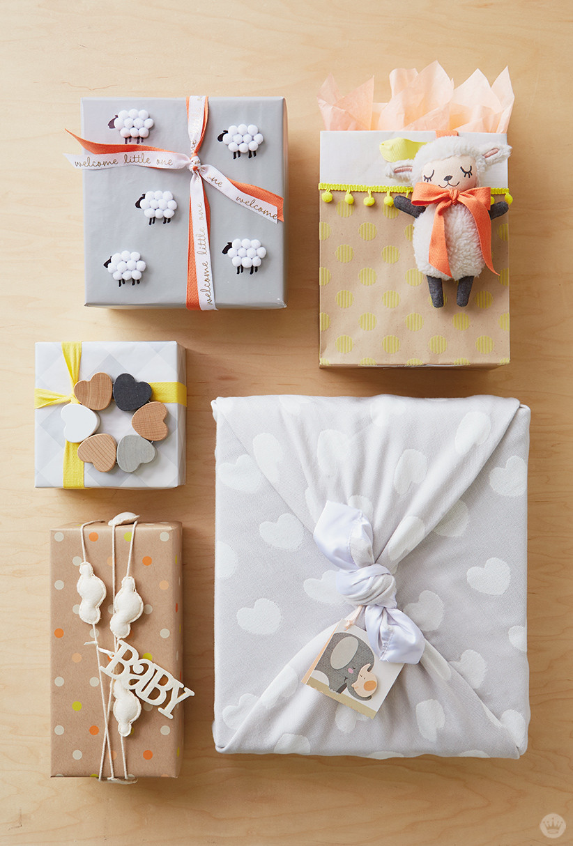 Baby Photo Gift Ideas  Baby t wrap ideas Showered with love Think Make