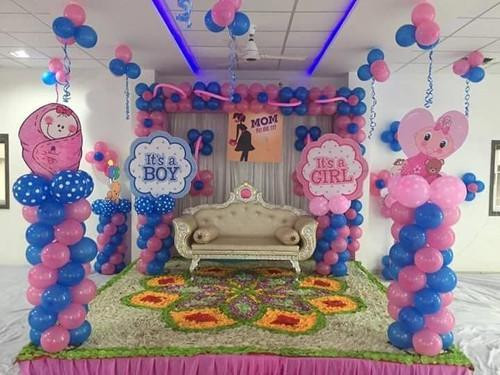 Baby Shower Decoration Ideas At Home  Baby Shower Balloon Decoration Ideas Partyyar