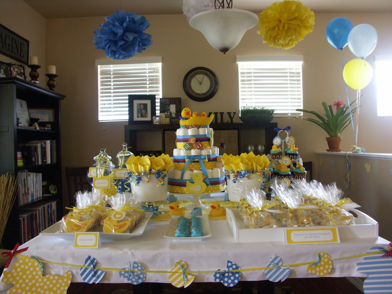 Baby Shower Decoration Ideas At Home  Rubber Ducky Baby Shower Decoration Ideas