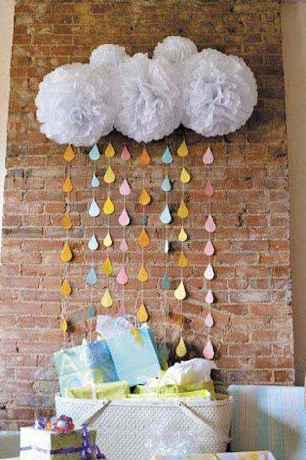 Baby Shower Decoration Ideas At Home  22 Cute & Low Cost DIY Decorating Ideas for Baby Shower