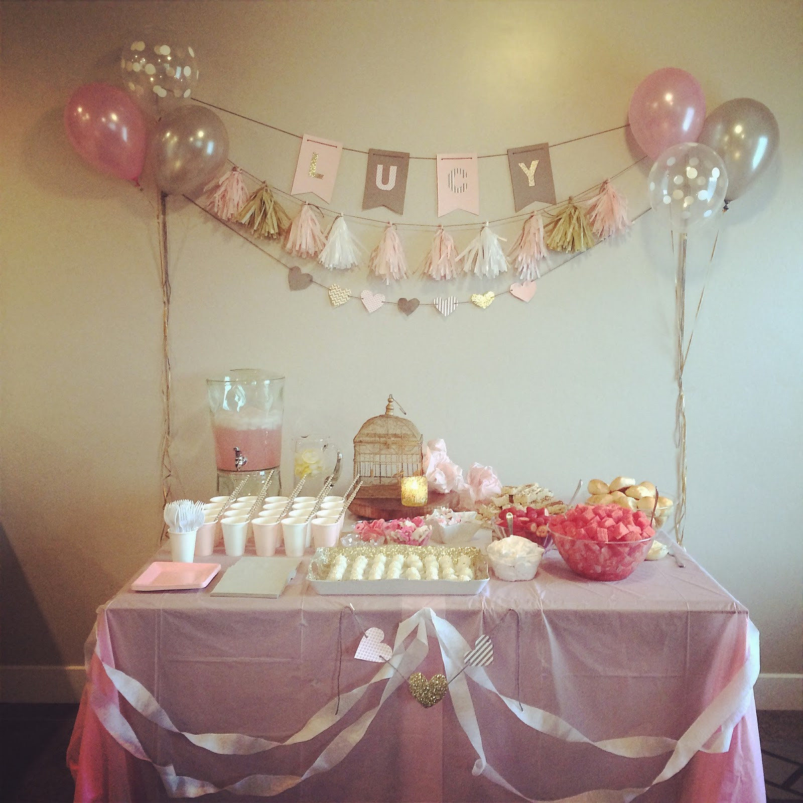 """Baby Shower Decoration Ideas At Home  Home with Carissa Introducing the """" the Cheap"""" Series"""