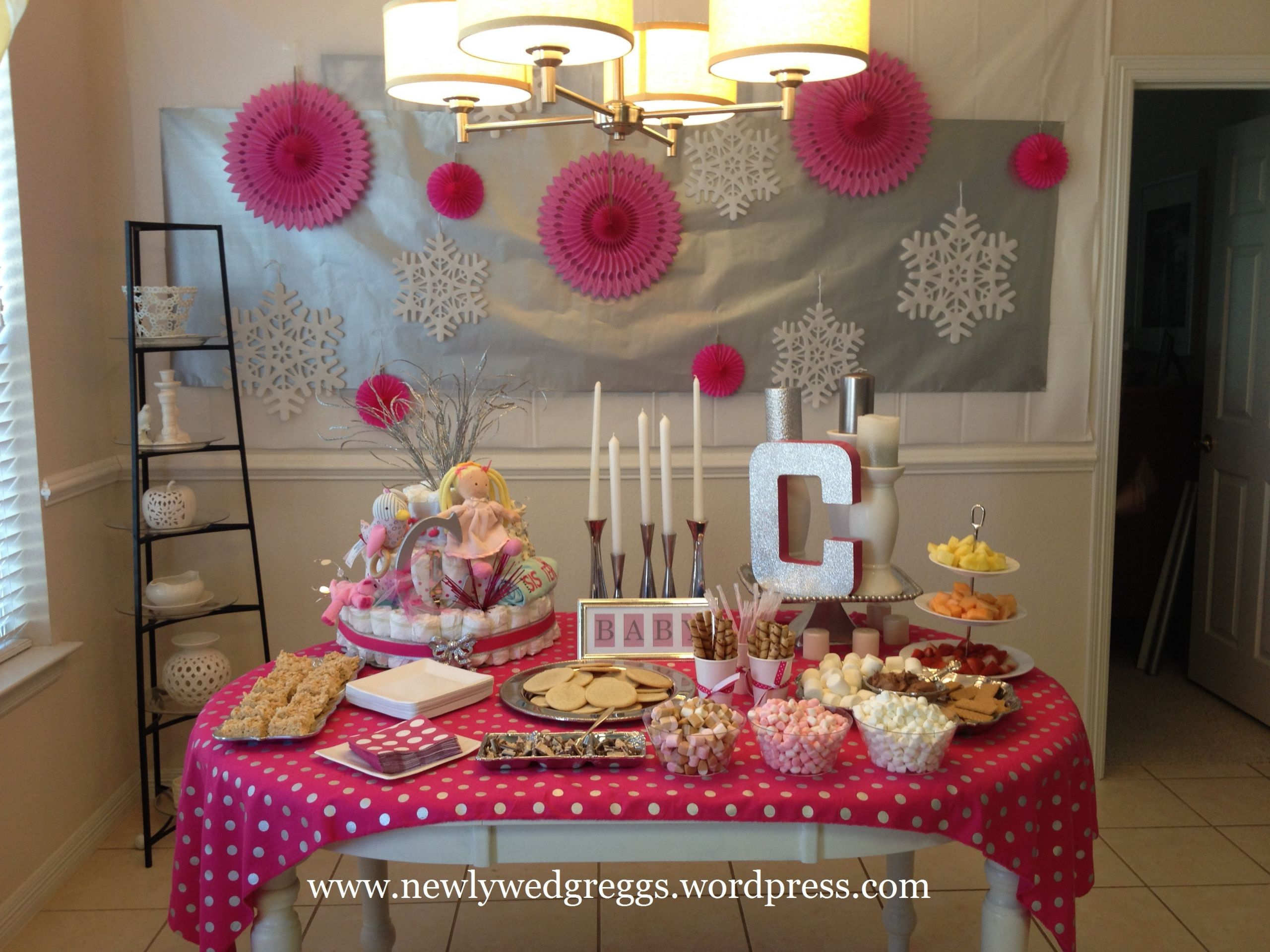 Baby Shower Decoration Ideas At Home  baby its cold outside baby shower