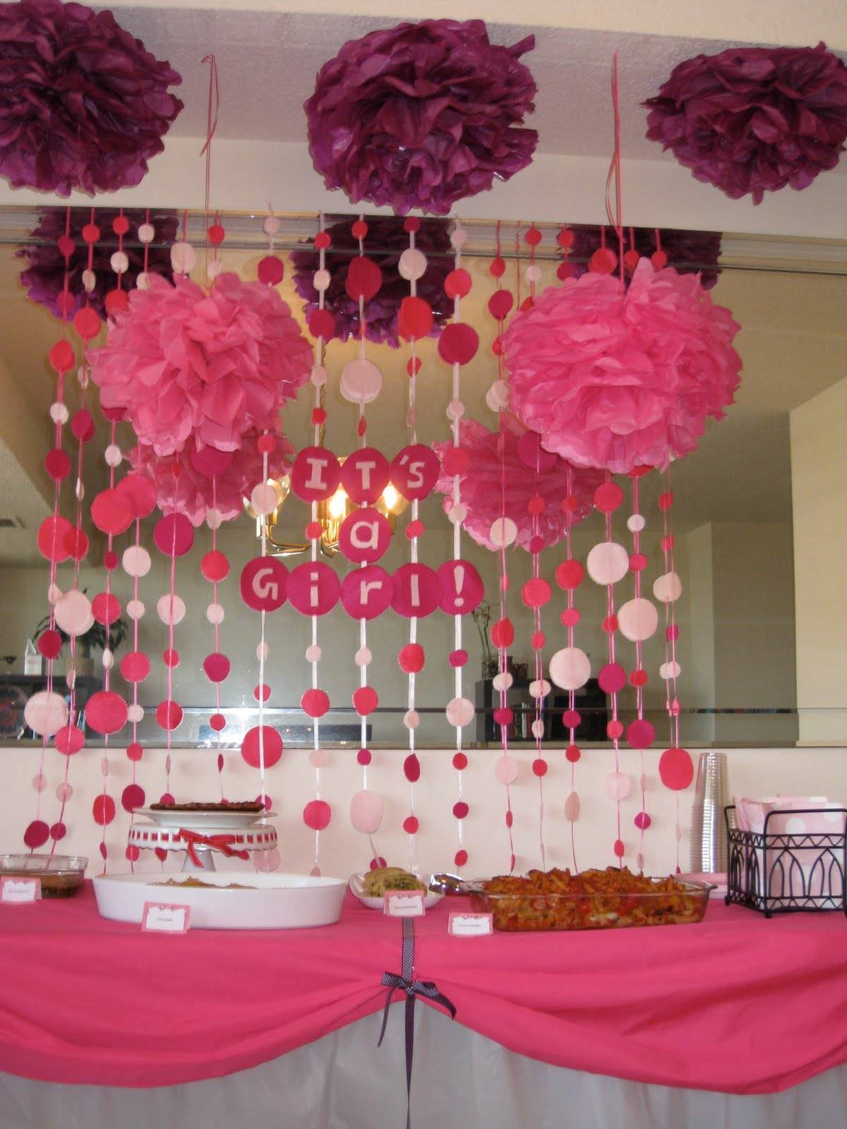 Baby Shower Decoration Ideas For A Girl  Creative Baby Shower Decorating Ideas
