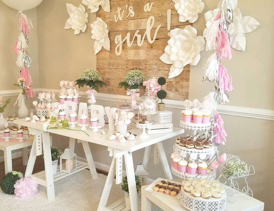 Baby Shower Decoration Ideas For A Girl  93 Beautiful & Totally Doable Baby Shower Decorations