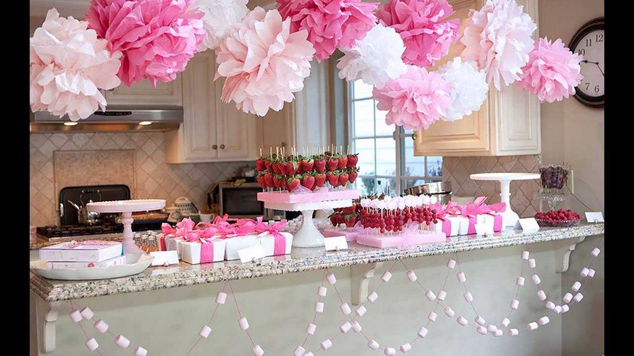 Baby Shower Decoration Ideas For A Girl  Cute Girl baby shower decorations