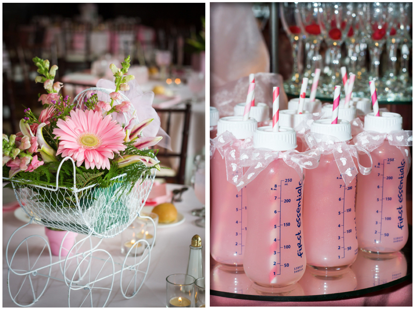 Baby Shower Decoration Ideas For A Girl  Home Confetti Elegant Baby Girl Shower