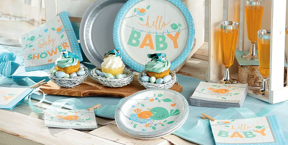 Baby Shower Decorations At Party City  Hello Boy Baby Shower Party Supplies