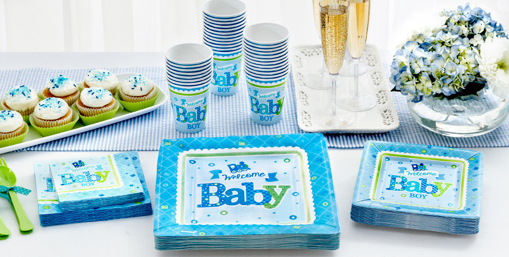 Baby Shower Decorations At Party City  Wel e Baby Boy Baby Shower Party Supplies Party City