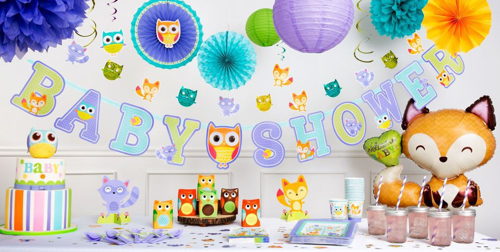 Baby Shower Decorations At Party City  Woodland Baby Shower Decorations Party City