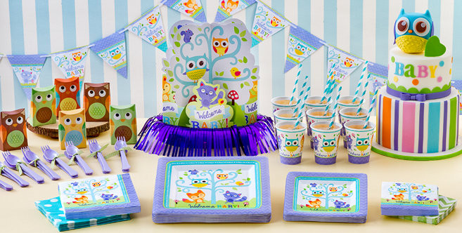 Baby Shower Decorations At Party City  Woodland Baby Shower Party Supplies Party City