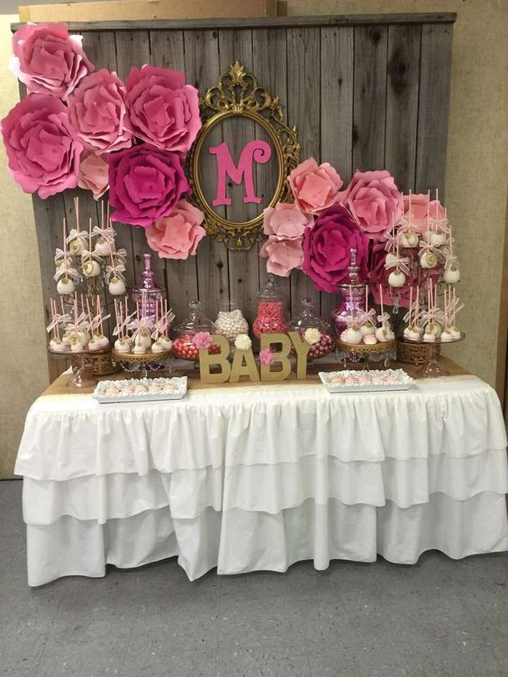 Baby Shower Table Decoration Ideas  49 Cute Baby Shower Dessert Table Décor Ideas DigsDigs