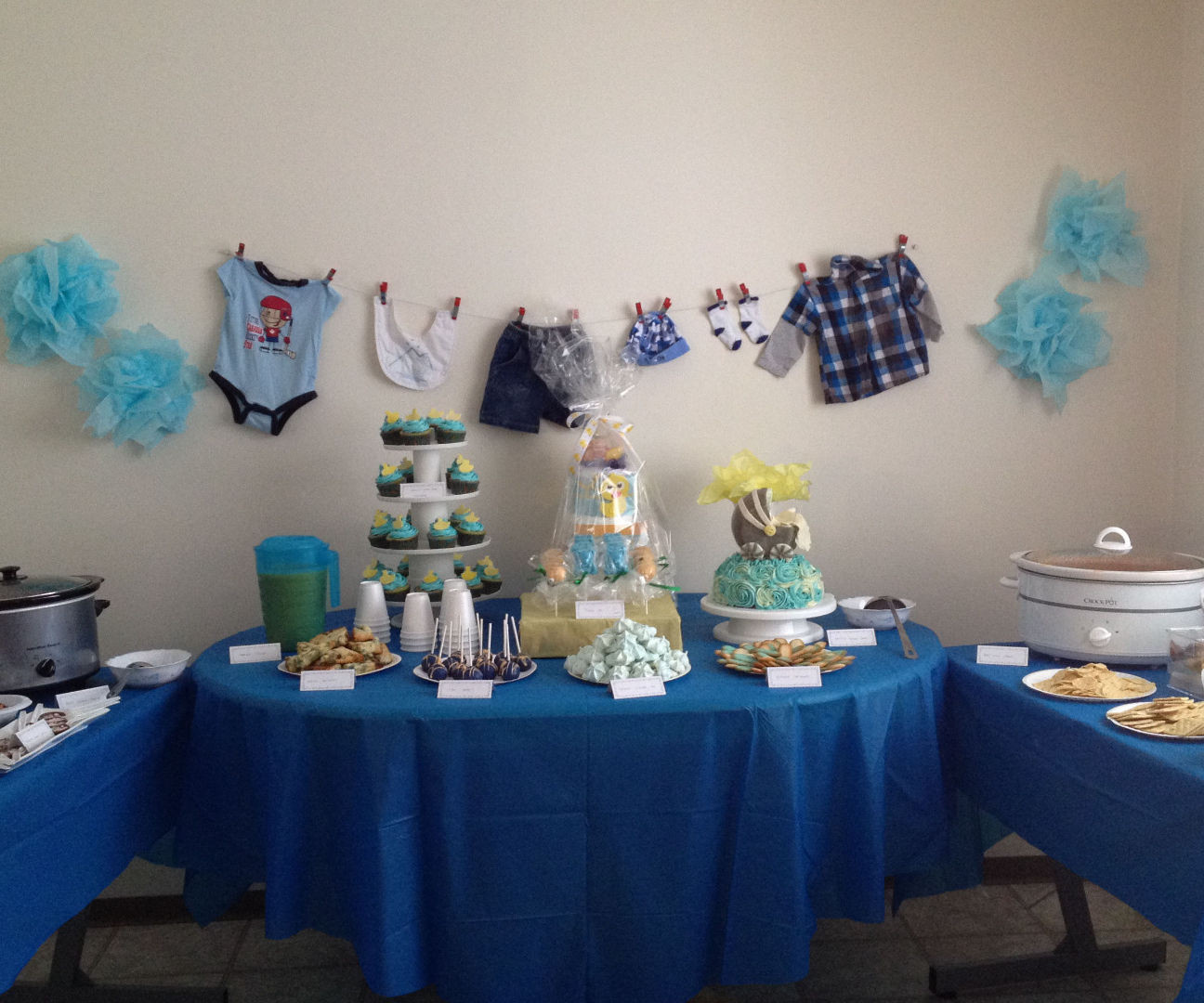 Baby Shower Table Decoration Ideas  Party Table Idea It s A Boy Baby Shower