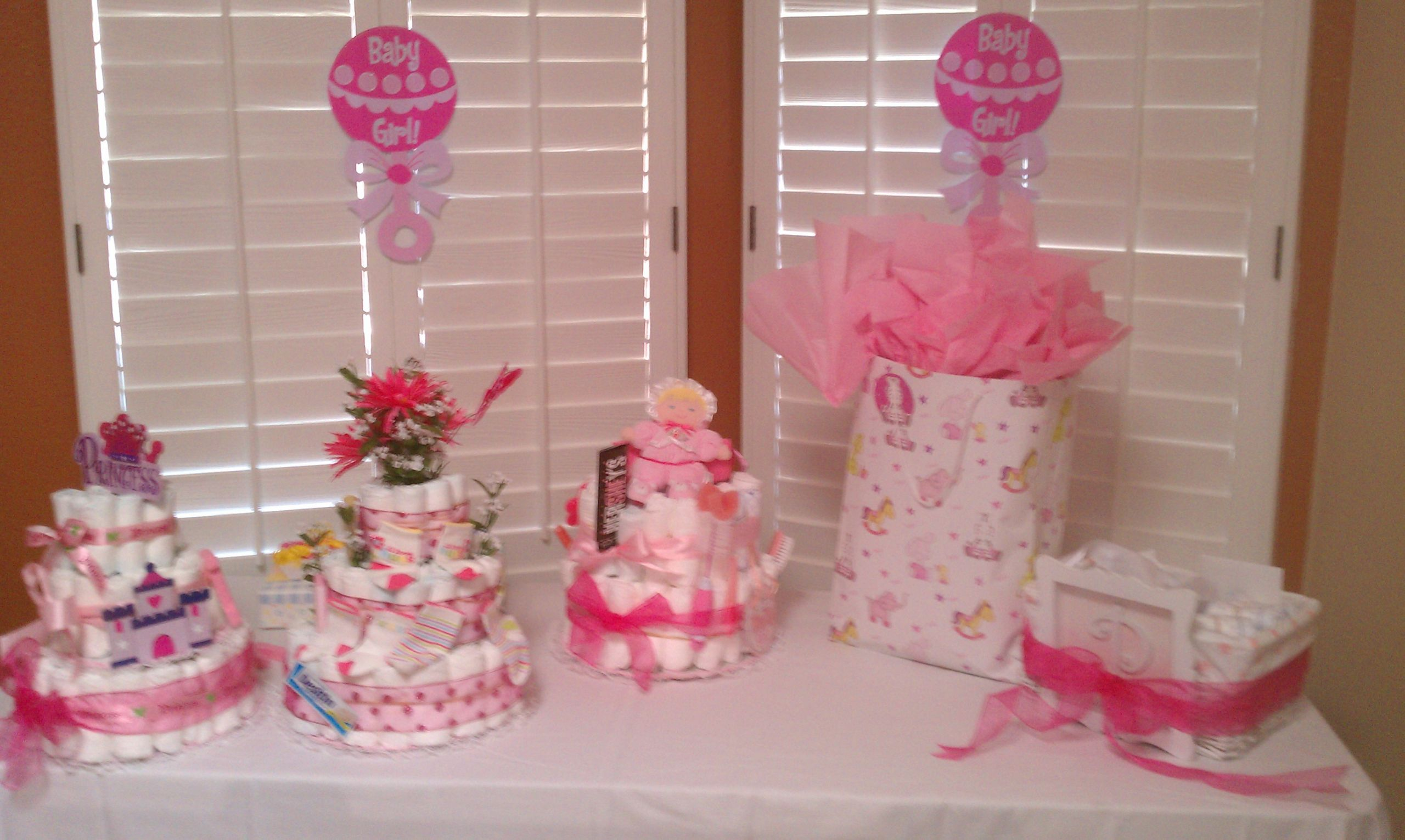 Baby Shower Table Decoration Ideas  Tables Chairs Pink Linens Baby Shower