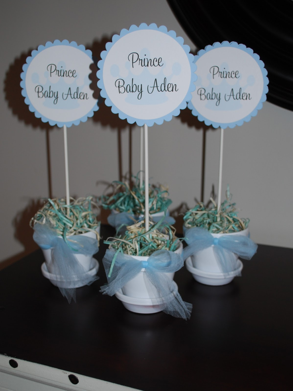 Baby Shower Table Decoration Ideas  Sweet P Parties Prince Baby Shower