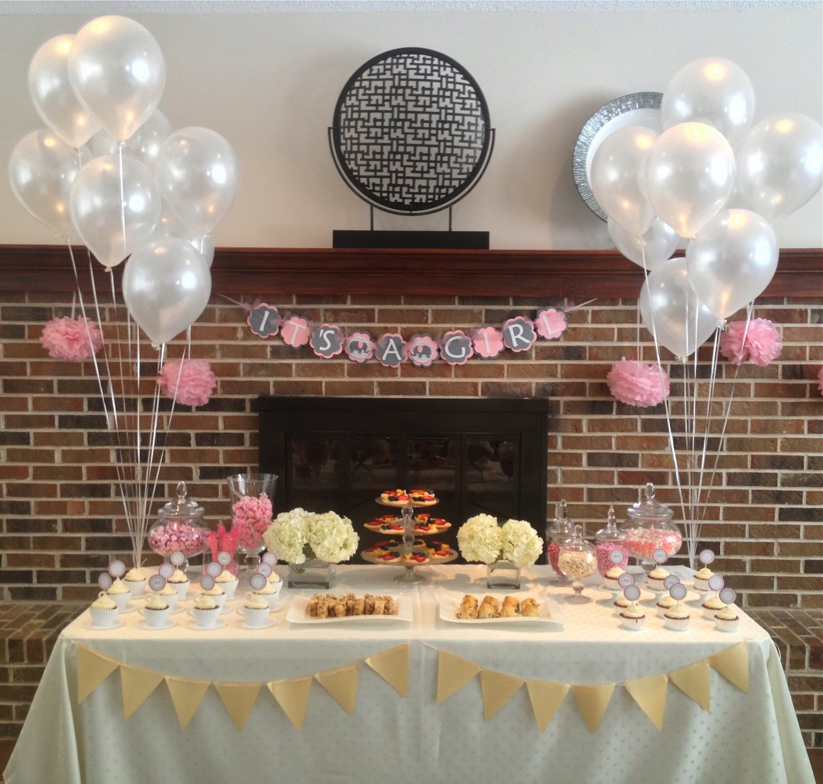 Baby Tea Party  Eat with Grace Pink and Grey Tea Party Themed Baby Shower