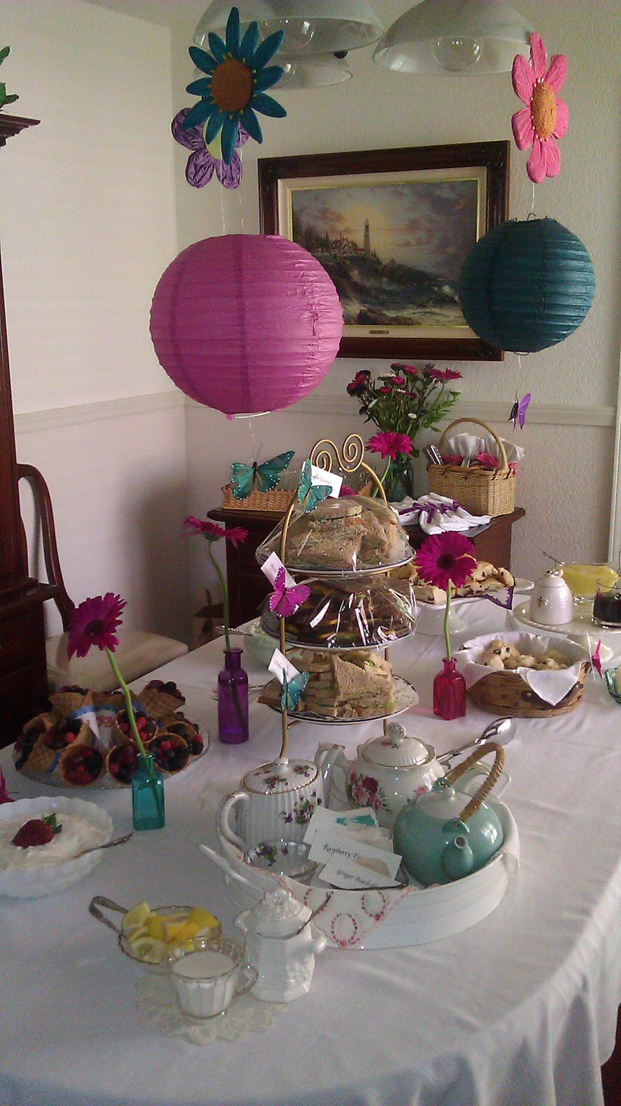 Baby Tea Party  Clearwater Cottage Baby Shower Tea Party