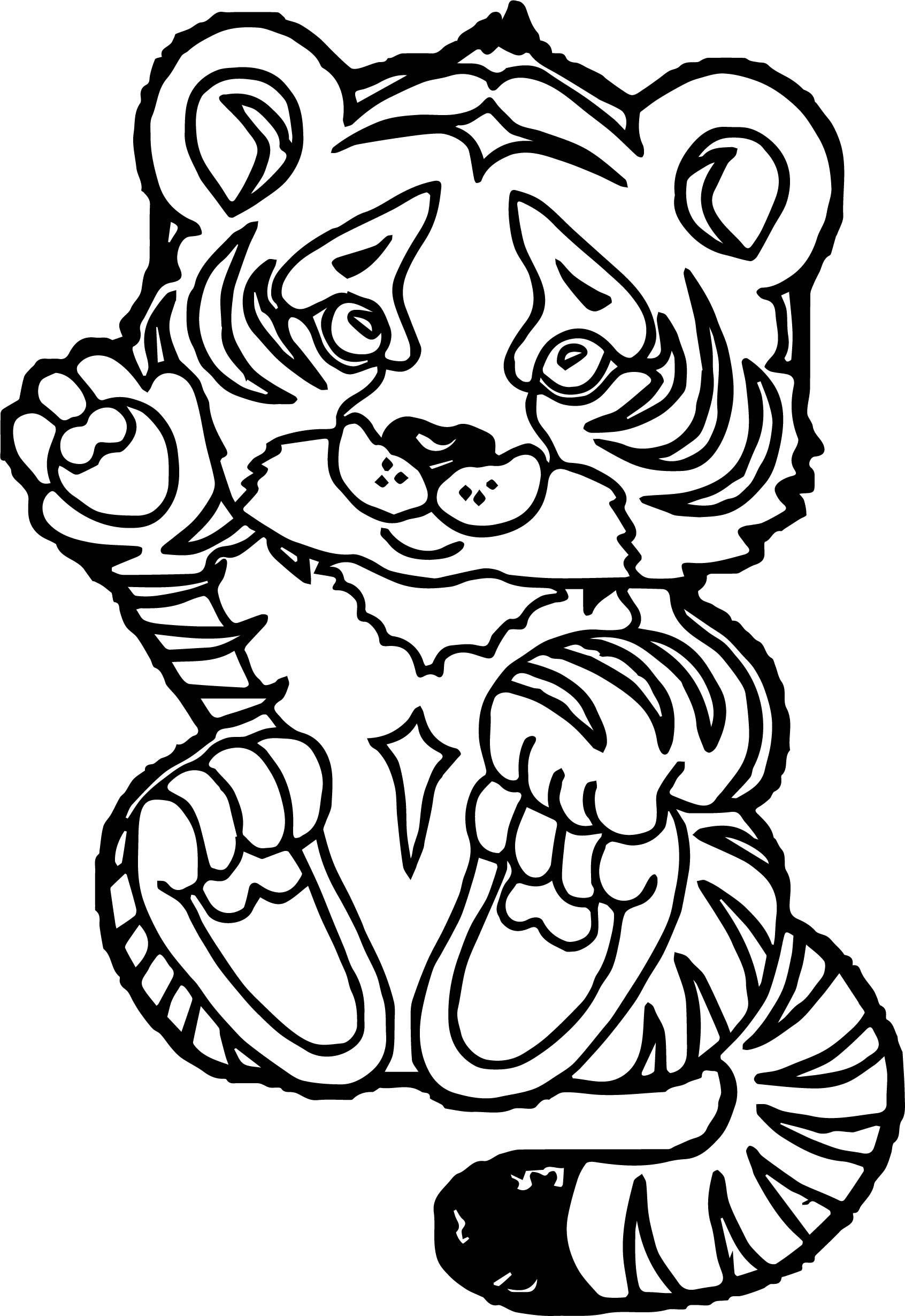 Baby Tiger Coloring Pages  Tiger Baby Coloring Page
