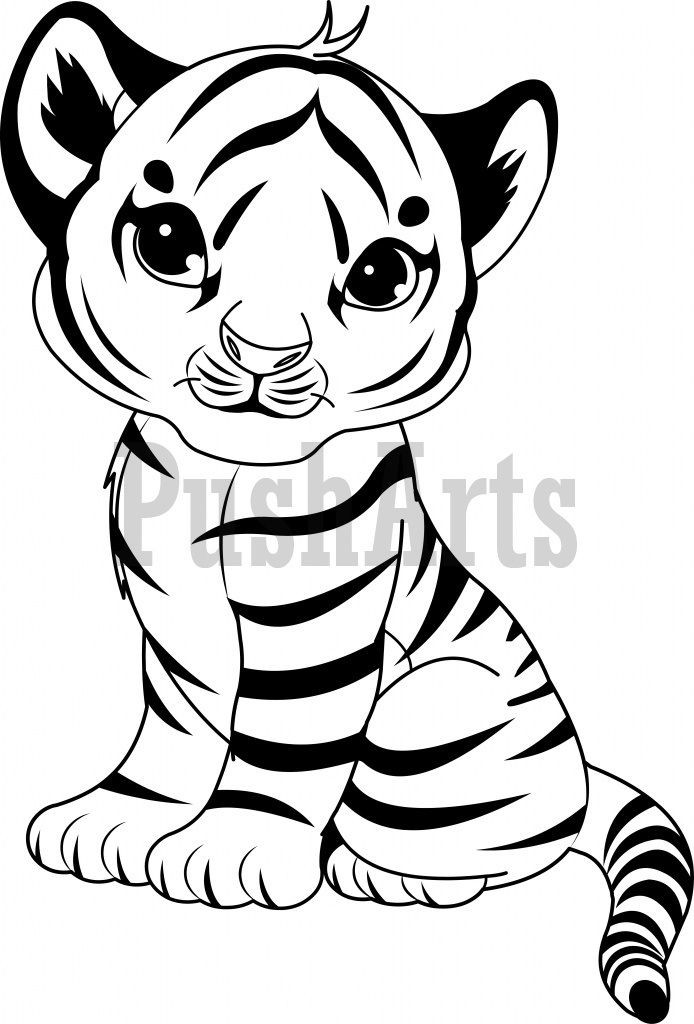 Baby Tiger Coloring Pages  Pin on Places to Visit