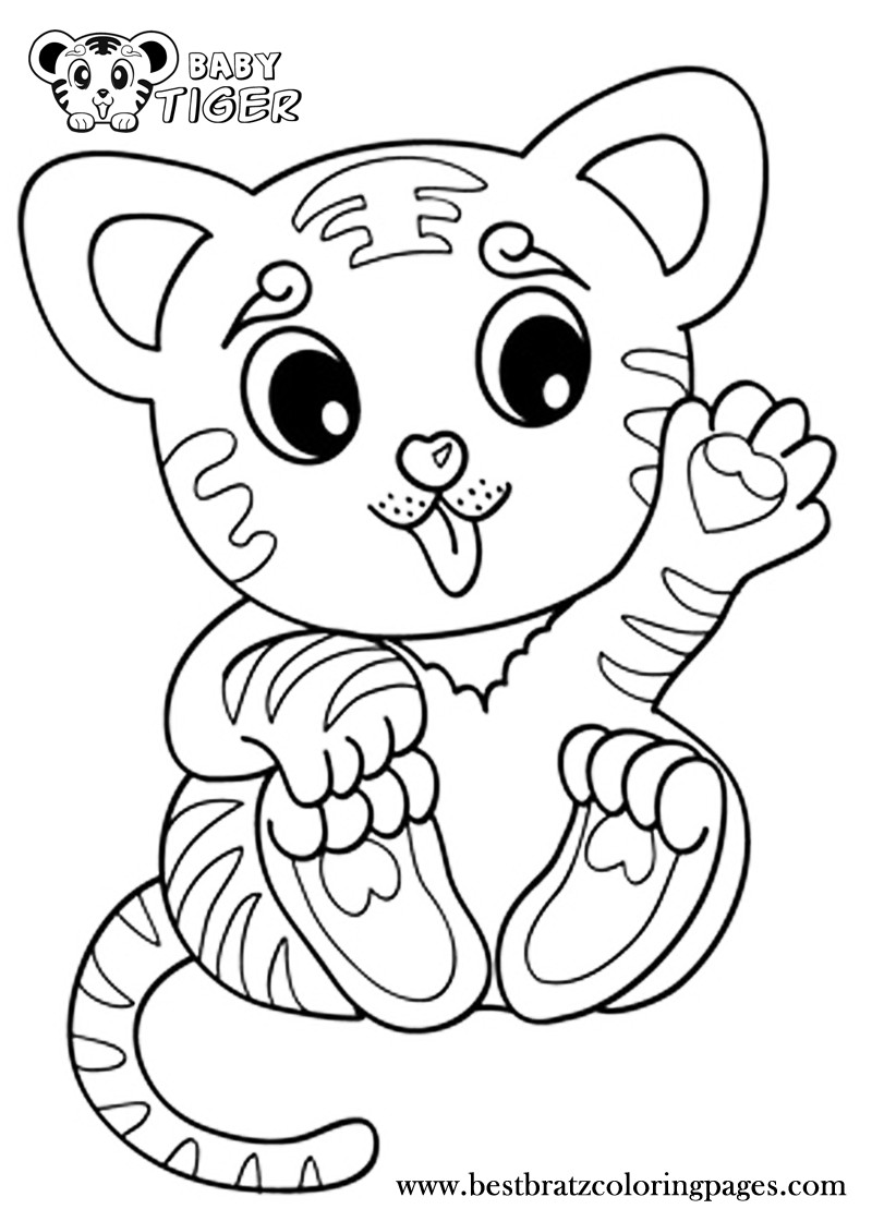 Baby Tiger Coloring Pages  Coloring Pages Tiger Cubs Coloring Home
