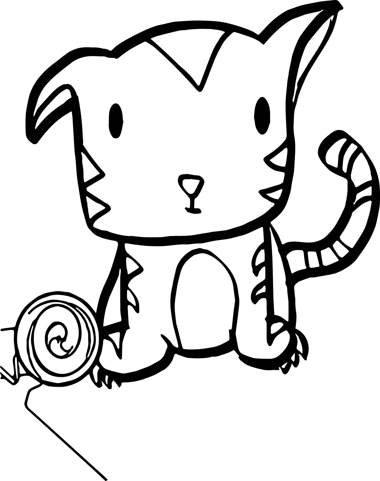 Baby Tiger Coloring Pages  Very Cute Baby Tiger Coloring Page