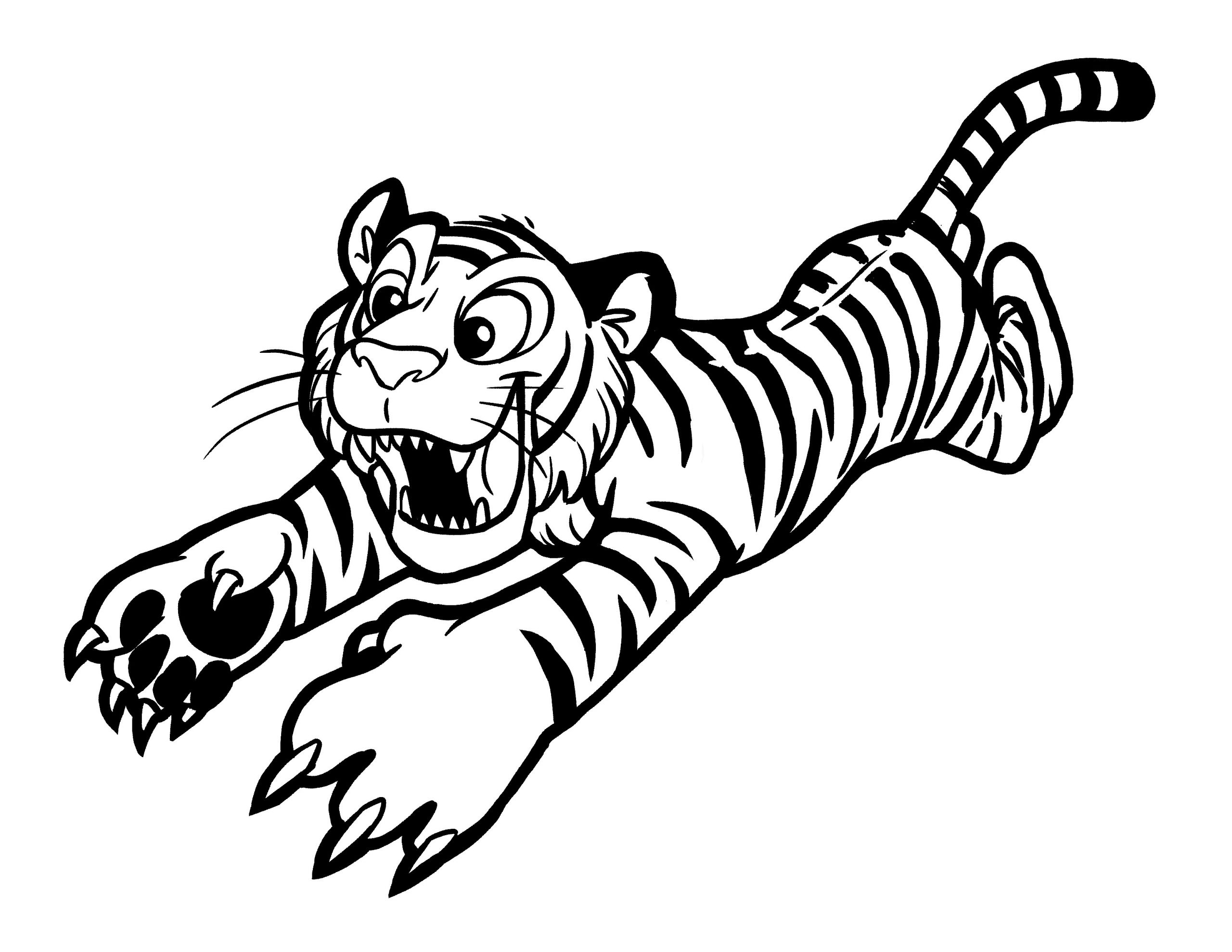 Baby Tiger Coloring Pages  Free Printable Tiger Coloring Pages For Kids