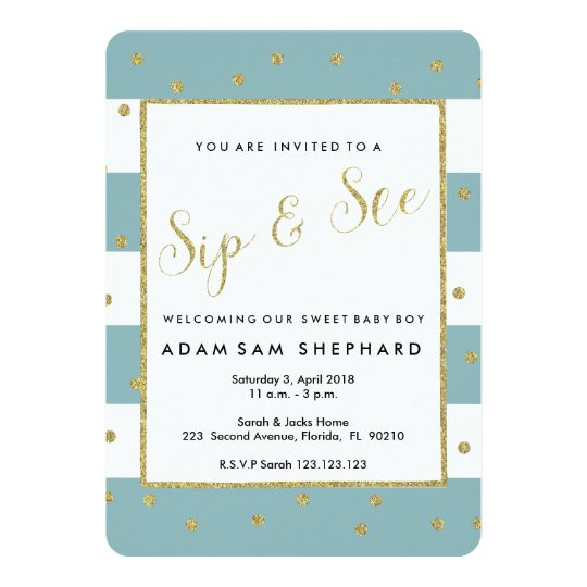 Baby Welcome Party Invitation  Sip and See invite new baby wel e party Invitation