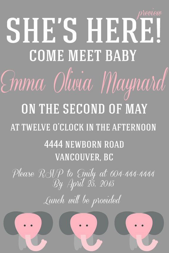 Baby Welcome Party Invitation  A Baby Must Meet & Greet Invitation by WifeyCo on Etsy