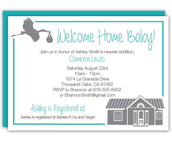 Baby Welcome Party Invitation  7 best Wel e Home Baby Shower images on Pinterest
