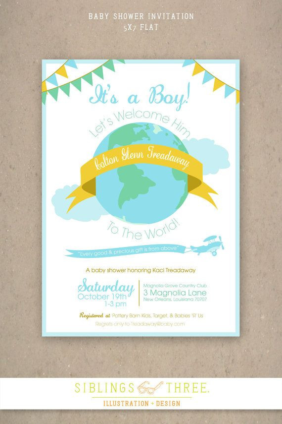 Baby Welcome Party Invitation  Printable Baby Shower Invitation Wel e to the world