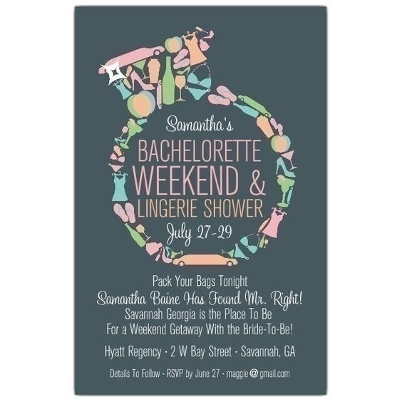Bachelorette Party Invitation Ideas  Quirky and Fun Bachelorette Party Invitation Ideas Blog