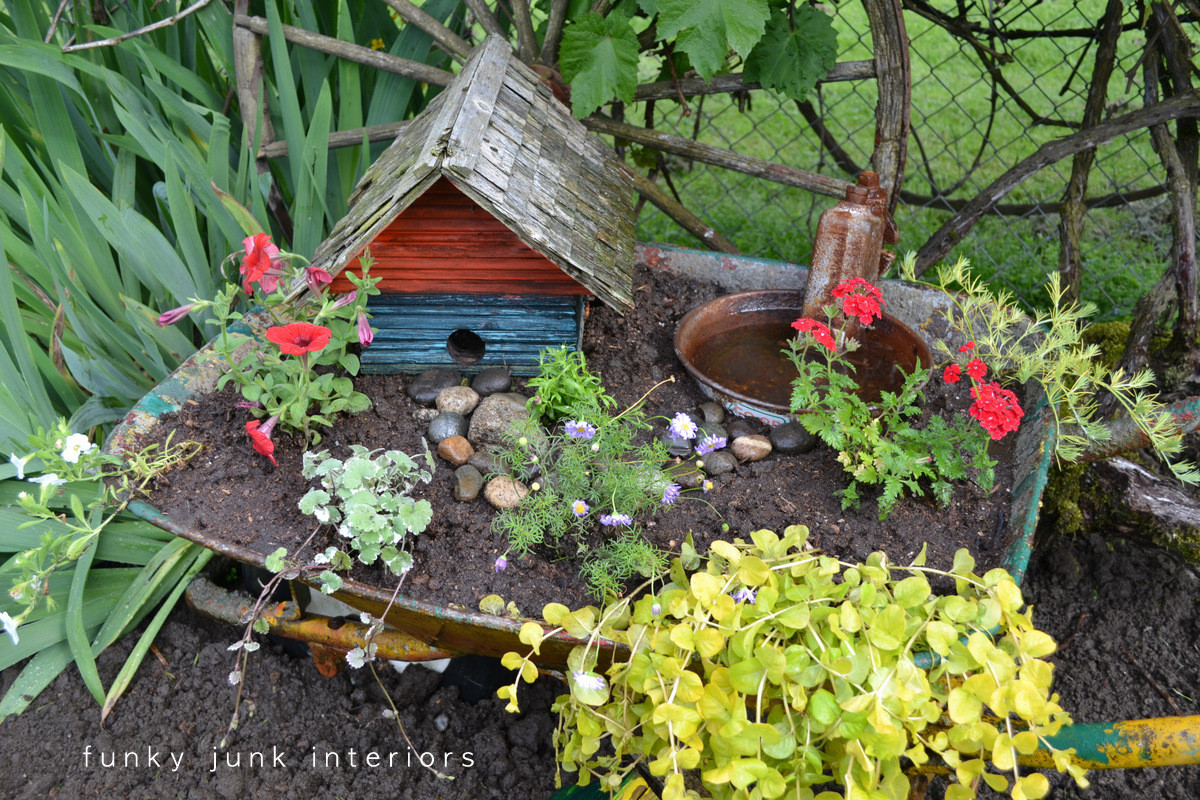 Backyard Bird Sanctuaries  The backyard garden s junkifiedFunky Junk Interiors