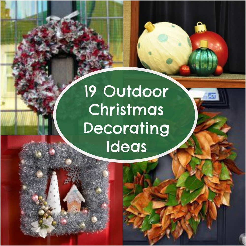 Backyard Christmas Decorations  19 Outdoor Christmas Decorating Ideas