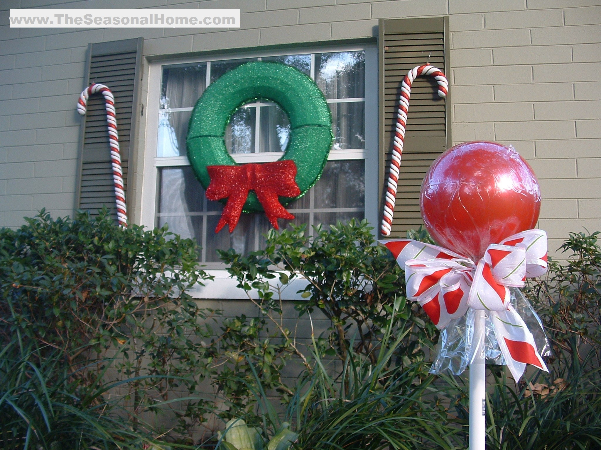 "Backyard Christmas Decorations  Outdoor ""CANDY"" A Christmas Decorating Idea The"